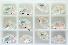 SALE - (8 PCS) Swarovski Crystal 5556 Galactic Bead 11x19mm - Crystal AB