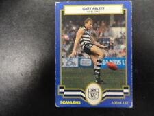 1986 SCANLENS CARD NO.105 GARY ABLETT GEELONG