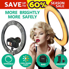 "18"" SMD LED Ring Light Dimmable 5500K Continuous Lighting Photo Video Kit"