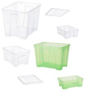 Samla Gles Ikea Box Kiste Behälter 5l,11l bis 22l Vol. grün/transparent Deckel