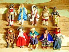Amazing Job Lot  of 10 Vintage China Dolls in Traditional Folk Costume