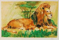 "Wayland Moore ""Lion"" | Rare Signed Print | 25.75 X 16.75"" | Coa | See Live*"