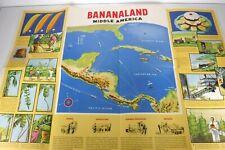 Bananaland Banana Vintage Poster 1951 United Fruit Company