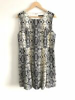 Portmans Size 16 Ladies Dress Snake Skin Print Sleeveless Fit & Flare Workwear