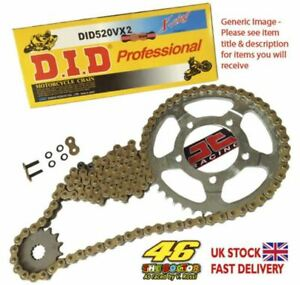 Kymco 250 Venox 04-09 DID X Ring Gold Chain Kit 14/39t 520/110