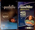 x2 GOODNITES Boys Bedtime NightTime Underwear Size L/XL 24 Count ea (PACK OF 2)