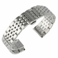 18/20/22/24mm Mens Stainless Steel Strap Wrist Watch Band Silver Bangle Bracelet