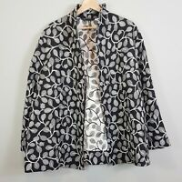 [ MIRRORS WOMAN ] Womens Textured Print Coat / Jacket  | Size AU 18 or US 14