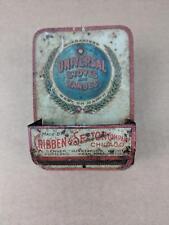 Antique UNIVERSAL Stoves and Ranges Match Holder Striker Tin Advertising Sign