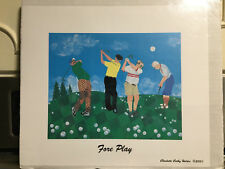 COMICAL GOLF PRINT BY CHARLOTTE HOLDER-- GOLF-FORE PLAY