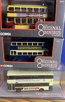 3 X Corgi Original Ombibus - Douglas Corp, Notts & Derby, Yorkshire Rider.Boxed