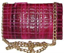 Albi Pink Magenta Leather Snakeskin Handbag Purse