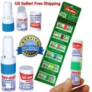 Poy Sian Herbal Nasal MARK II MARK 2 Inhaler Nasal Menthol Oil Eucalyptus 6 Pcs