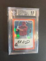 2011 Bowman Chrome Paul Goldschmidt auto orange refractor 12/25 8.5