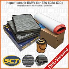 BMW 5er E39 525d 530d Innenraumfilter Aktivkohle + Luftfilter + Ölfilter