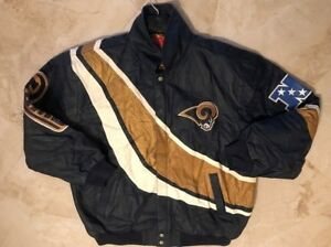 Los Angeles Rams Leather Jacket 2XL 3XL Specialty Premium Leather NFL