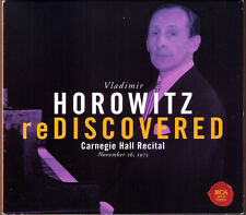 Vladimir HOROWITZ ReDiscovered Carnegie Hall Recital 1975 2CD Schumann Chopin