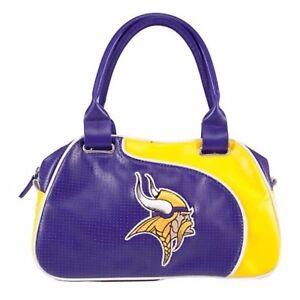 NFL Minnesota Vikings Perfect Bowler Purse Hand Bag
