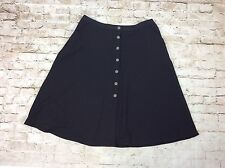 NY Collection Skirt 1x Plus Size Black A Line Textured Pique Stretch Womens New