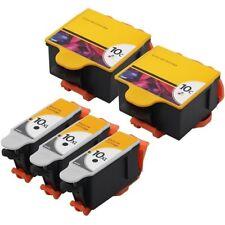 5x 3BK+2C Hi-Yield Ink For Kodak 10XL 10C Hero 6.1 7.1 9.1 ESP 3, 5, 5210 5250
