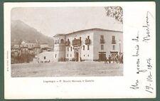LAGONEGRO (Potenza). R. Scuola Normale e Castello. Cartolina viaggiata nel 1904