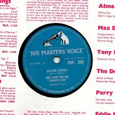 UK CHUCK BERRY COVER DON LANG  78  SCHOOL DAY / SIX-FIVE SPECIAL  HMV POP 350 V+