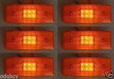 6x Hinten ORANGE Marker 6 LED´s Beleuchtung 12V Anhänger Lkw Fahrwerk Wohnwagen