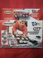 CLASSIC MATCHBOX CITY 20 PC PUZZLE EXCLUSIVE WITH FIRETRUCK 43510 NEW ORIGINAL