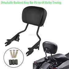 Rückenlehne Sissy Bar abnehmbar für Harley Davidson Street Glide 09-18 schwarz