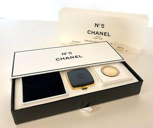 Vintage CHANEL No 5 Pressed Parfum Perfume Compact + Refill NEW NIB
