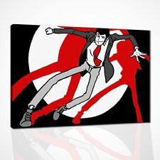 Quadri Dipinti a Mano Su Tela Quadro Moderno Lupin per Arredamento Casa Pop Art