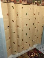 Northwoods Bear Camping Trip Woodland Shower Curtain Lodge Fishing Rug Towels