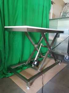 Professional electric stainless steel dog grooming table * lowers to 20cm *