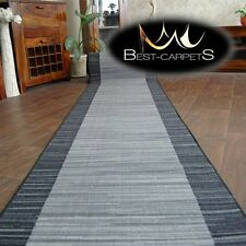 Runner Rugs, STREIFEN gray, NON-slip, Modern, strips Width 57cm-133cm extra long