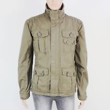 Next Mens Size M Green Zip Up Cotton Jacket