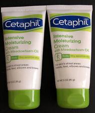 Lot of 2 Cetaphil Intensive Moisturizing Cream W/ Meadowfoam Oil - 3oz EACH, NEW