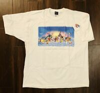 VTG Walt Disney World Art Of Disney Millenium Unisex Graphic T-Shirt 2XL HTF NEW