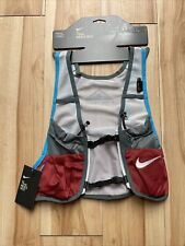 Nike Trail Running Vest Men's Size Small Red Grey Cz0508