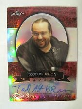 TODD BRUNSON 2011-2012 LEAF Metal Poker Prismatic Red AUTOGRAPH  4/5