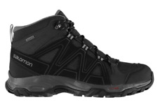 SALOMON Mens Grey & Black Sanford Mid GORE-TEX Walking Hiking Boots UK 9 BNWT