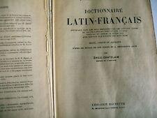 dictionnaire LATIN FRANCAIS Emile chatelain