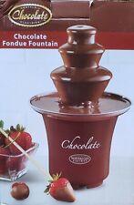 Mini Chocolate Fondue Fountain by Nostalgia Chocolate Electronics Open Box