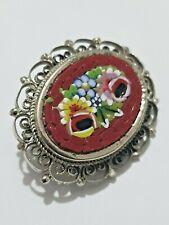 Gorgeous Multi Colour Mosaic Brooch