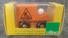 VILAC TOY WOODEN - MINT IN BOX - VILAC SERVICE ORANGE MINI TRUCK