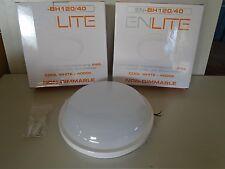 Enlite BH120/40 240v IP65 20w LED Round Polycarbonate Bulkhead 4000k Cool White