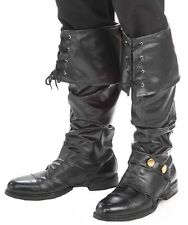 PIRATE BOOT COVERS Shoe Cover Medieval Mens Womens Costume Carribbean Accessory