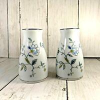 Noritake   Salt and Pepper Shakers  Floral Blue Morning Glory Japan