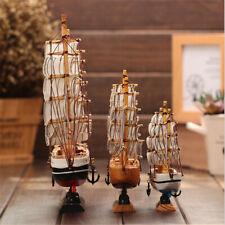Modelo De Velero de Madera sólida manualidades Ornamento Decoración Hogar Modelo Barco De Vela