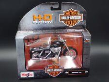 Motos et quads miniatures noirs Harley-Davidson 1:18