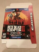 """Red Dead Redemption 2 ll GameStop Exclusive Promo Display Box 11x15"""" PS4 Game"""